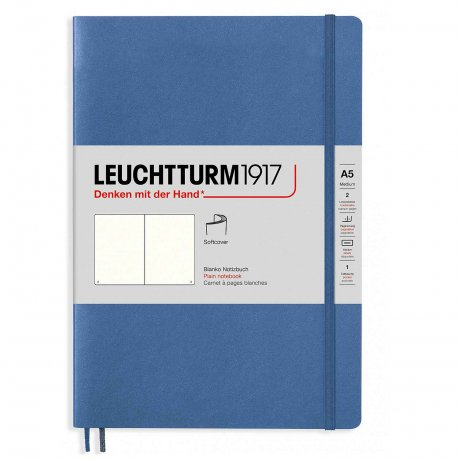 "Leuchtturm1917 Notizbuch Softcover ""M"" denim liniert"