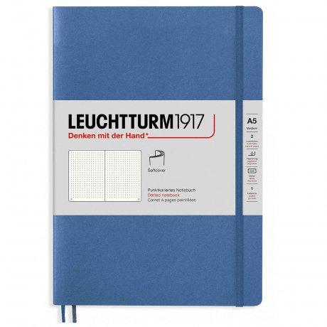 "Leuchtturm1917 Notizbuch Softcover ""M"" denim dotted 1"
