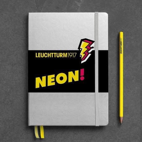 """Leuchtturm1917 Notizbuch A5 """"NEON"""" gelb dotted 1"""