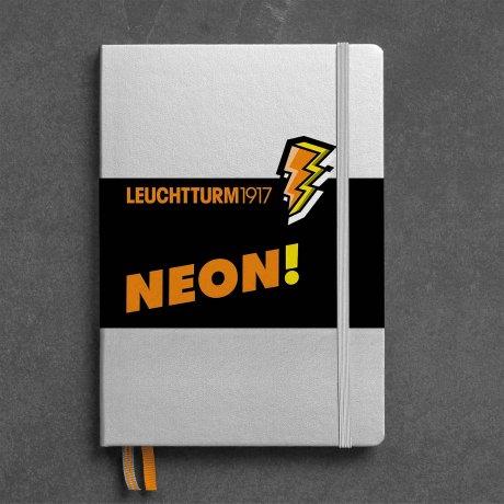 """Leuchtturm1917 Notizbuch A5 """"NEON"""" orange dotted 1"""