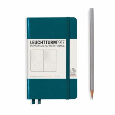 "Leuchtturm1917 Notizbuch ""S"" pacific green liniert 1"