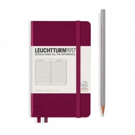 """Leuchtturm1917 Notizbuch """"S"""" port red liniert 1"""