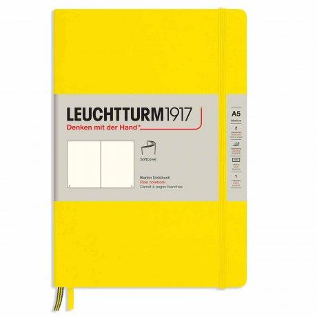 "Leuchtturm1917 Notizbuch Softcover ""M"" zitrone blanko 1"