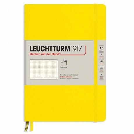 "Leuchtturm1917 Notizbuch Softcover ""M"" zitrone dotted 1"