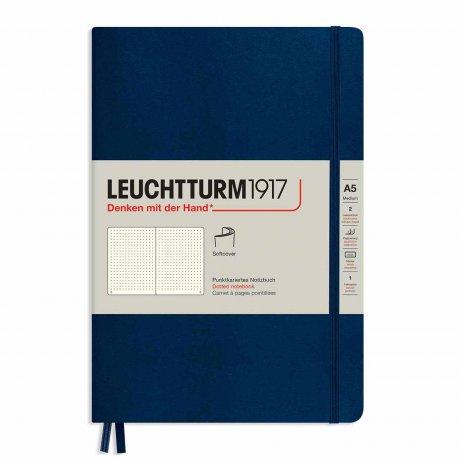 "Leuchtturm1917 Notizbuch Softcover ""M"" marine dotted 1"