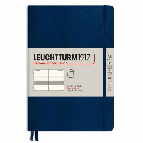 """Leuchtturm1917 Notizbuch Softcover """"M"""" marine liniert 1"""