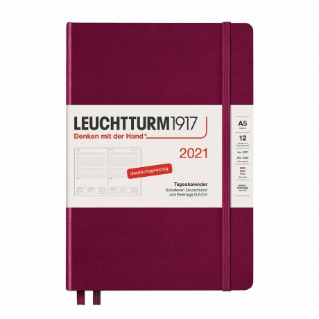 Leuchtturm 1917 Tageskalender 2021 Deutsch port red 1