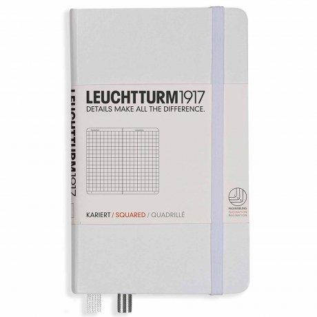 """Leuchtturm1917 Notizbuch """"S"""" weiß kariert 1"""