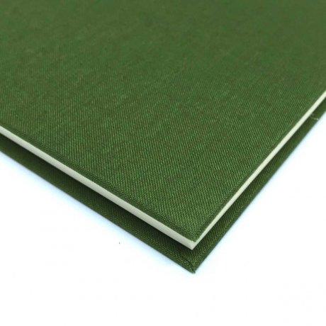 "Semikolon Classic Notizbuch ""S"" Leinen dunkelgrün 1"