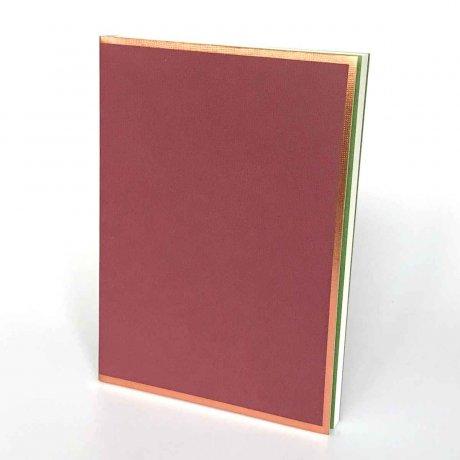 "Semikolon Notizbuch ""M"" Kupferkante burgund 1"