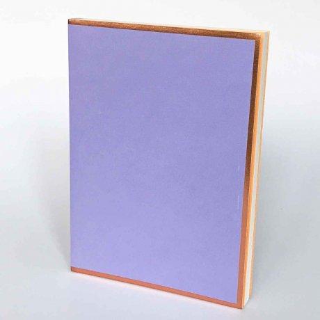 """Semikolon Notizbuch """"M"""" Kupferkante violett 1"""