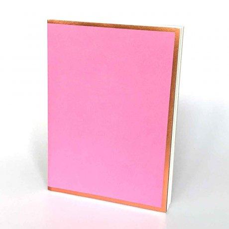 """Semikolon Notizbuch """"S"""" Kupferkante rosa 1"""