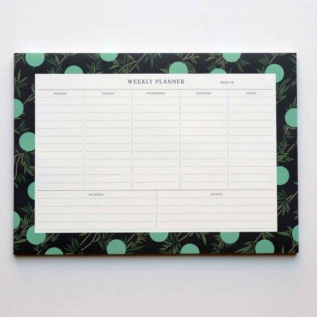 Weekly Planner - Wochenübersicht mit Bambusblättern von Haferkorn & Sauerbrey 1