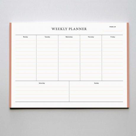 Weekly Planner - Wochenübersicht rosé von Haferkorn & Sauerbrey 1