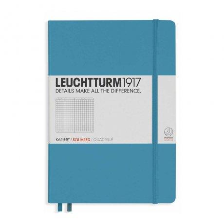 "Leuchtturm1917 Notizbuch ""L"" slim nordic blue kariert 1"