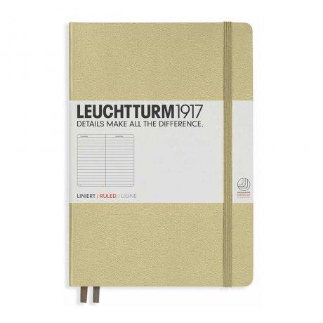 """Leuchtturm1917 Notizbuch """"L"""" slim sand liniert 1"""