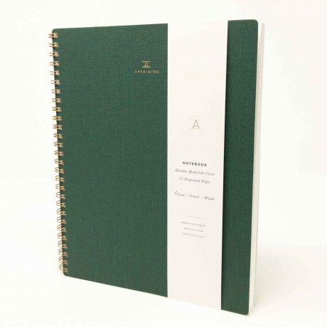 Appointed Notizbuch dunkelgrün kariert 1
