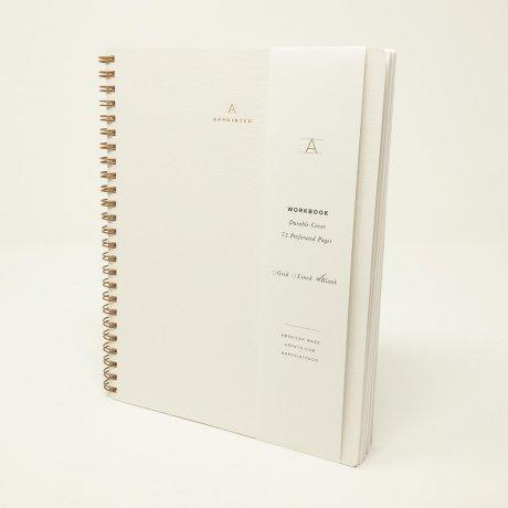 Appointed Notizbuch weiß blanko 1