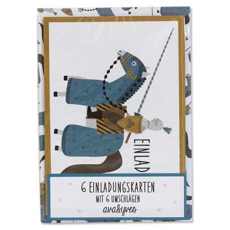 Einladungskarten-Set Ritter 1