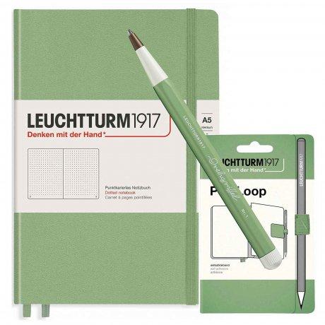 Leuchtturm1917 Notizbuch A5 mit Drehgriffel und penloop GRATIS Farbe salbei 1