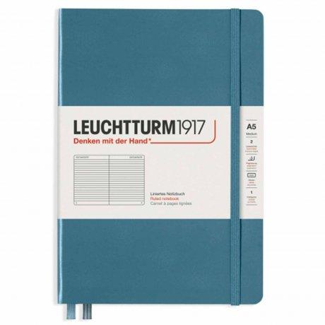 "Leuchtturm1917 Notizbuch Softcover ""M"" stone blue liniert 1"