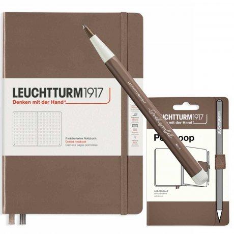 Leuchtturm1917 Notizbuch A5 mit Drehgriffel und penloop GRATIS Farbe warm earth 1