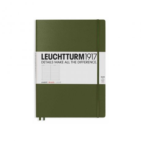 "Leuchtturm1917 Notizbuch ""L"" slim army liniert 1"