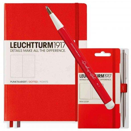 Leuchtturm1917 Notizbuch A5 mit Drehgriffel und penloop GRATIS Farbe rot 1