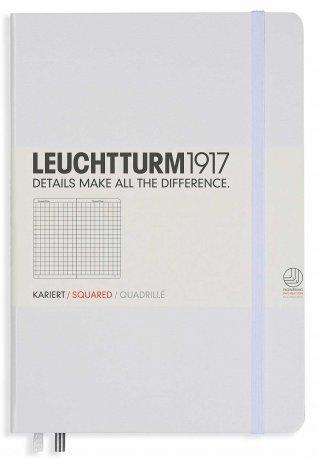 Leuchtturm1917 Notizbuch A4+ slim weiß kariert