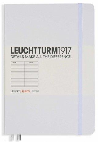 Leuchtturm1917 Notizbuch A4+ slim weiß liniert