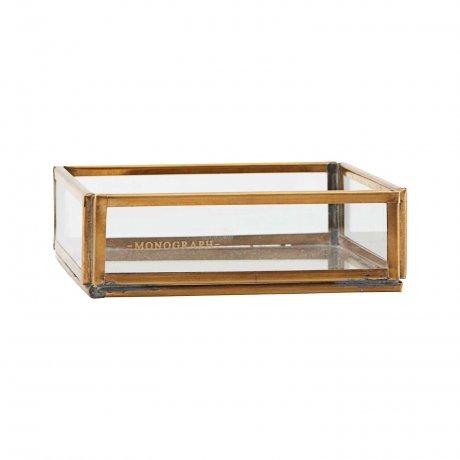 Messing Box von Monograph 10 x 10 cm Vitrine 1