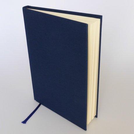 "Semikolon Classic Notizbuch ""M"" Leinen dunkelblau 1"