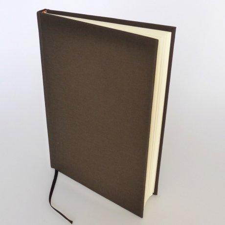 "Semikolon Classic Notizbuch ""M"" Leinen dunkelbraun 1"