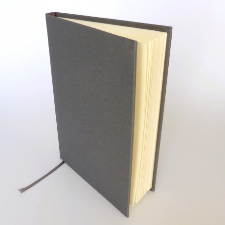 "Semikolon Classic Notizbuch ""M"" Leinen grau 1"