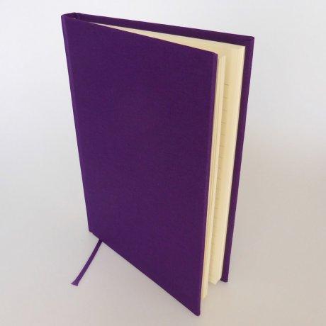 "Semikolon Classic Notizbuch ""M"" Leinen lila 1"