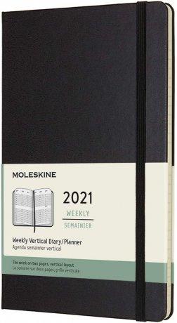 "MOLESKINE® Wochenkalender 2021 ""L"" vertikal schwarz 1"