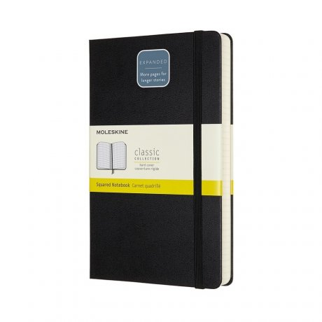 "MOLESKINE® Notizbuch ""L"" Hardcover schwarz kariert - expanded 1"