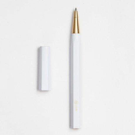 ystudio | Rollerball Pen Resin | Aus massivem Messing und Kunststoff in Weiß von ystudio 1
