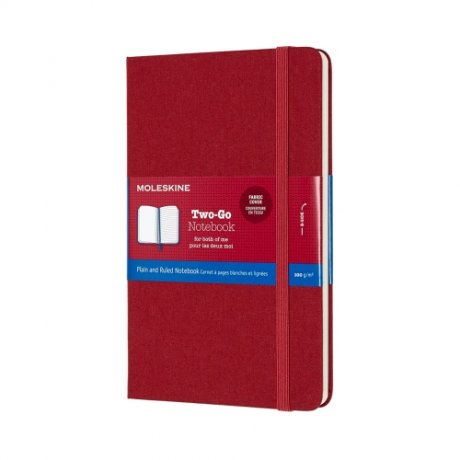MOLESKINE® Two-Go Notizbuch Leineneinband rot 1