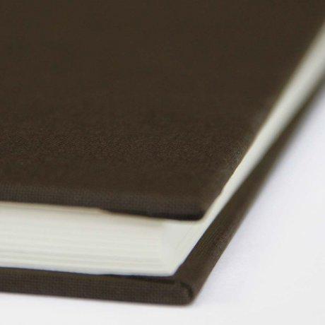 "Semikolon Classic Notizbuch ""S"" Leinen dunkelbraun 1"