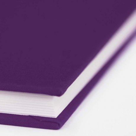 "Semikolon Classic Notizbuch ""S"" Leinen lila 1"