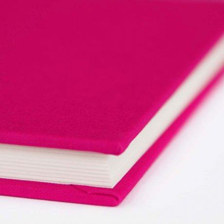 "Semikolon Classic Notizbuch ""S"" Leinen pink 1"