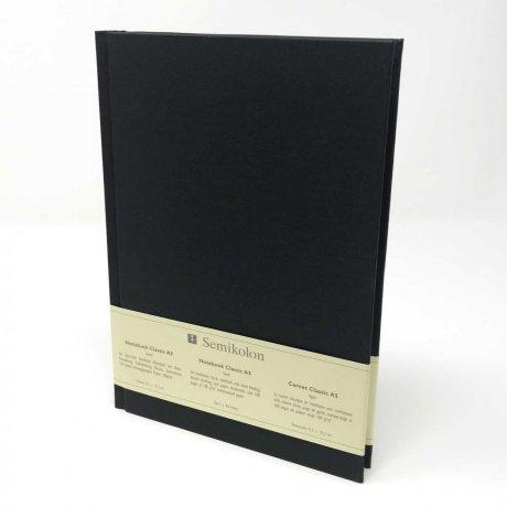 "Semikolon Classic Notizbuch ""M"" Leinen schwarz 1"