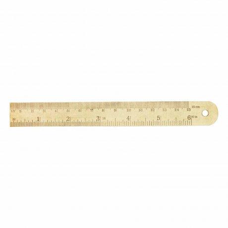 Lineal aus Messing kurz von Monograph | 15 Zentimeter Länge 1