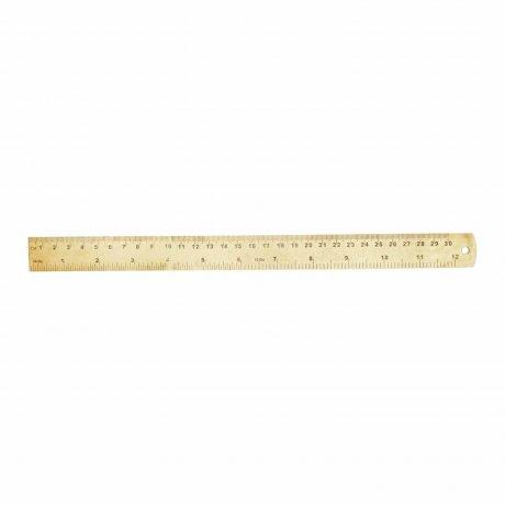 Lineal aus Messing groß von Monograph | 30 Zentimeter Länge 1