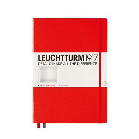 "Leuchtturm1917 Notizbuch ""L"" rot kariert 1"