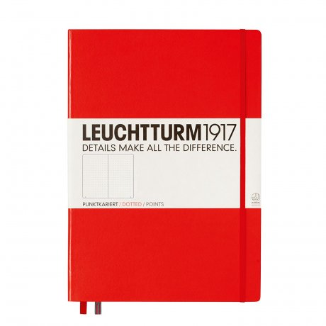 "Leuchtturm1917 Notizbuch ""L"" rot dotted 1"