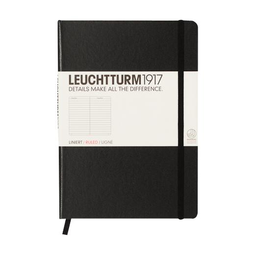 """Leuchtturm1917 Notizbuch """"S"""" schwarz liniert"""