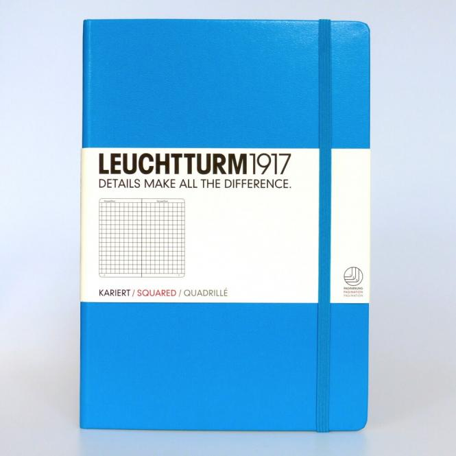 "Leuchtturm1917 Notizbuch ""M"" azur kariert"