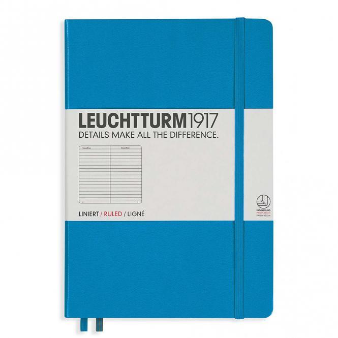 """Leuchtturm1917 Notizbuch """"M"""" azur liniert"""
